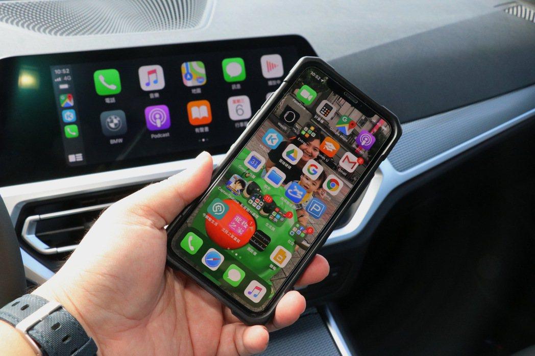 無線Apple CarPlay系統。 記者陳威任/攝影