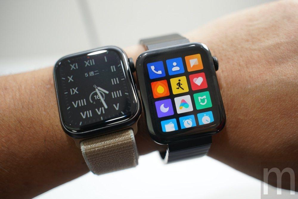 與Apple Watch series 5比較,小米手錶確實有一些相似,不過包含...