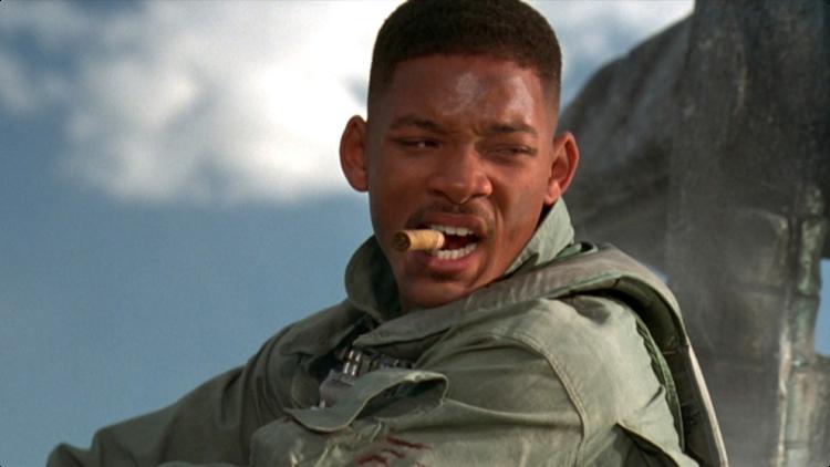 威爾史密斯曾在「ID4星際終結者」中擔綱男主角。圖/摘自推特