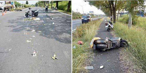 麻豆警分局分析機車自撞車禍,和疲勞駕駛有關。