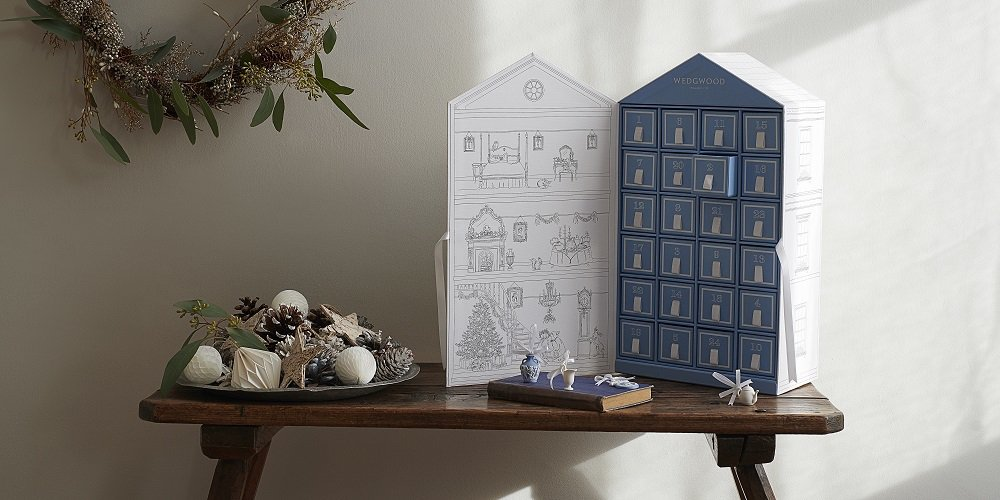 Wedgwood今年推出倒數日曆,售價22,000元。圖/Wedgwood提供