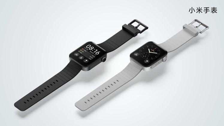 小米手表具備1.78英寸AMOLED方形螢幕,顯示面積更寬廣且容易點選操作。圖/...