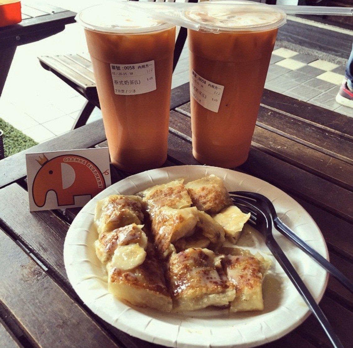 「橘象泰早安」道地泰奶讓無數饕客聞香而來。圖/取自IG:hisft