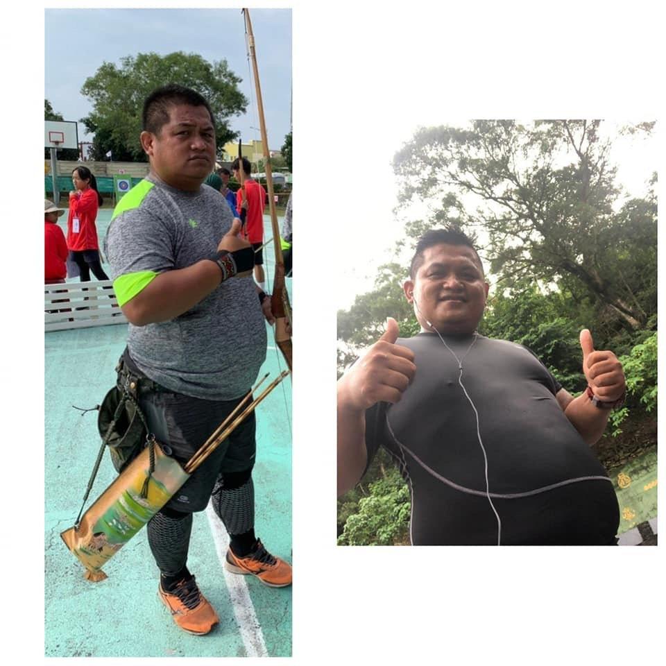特戰士官戴吉雄在軍中胖到116公斤。圖/陸軍特戰指揮部臉書粉絲專頁