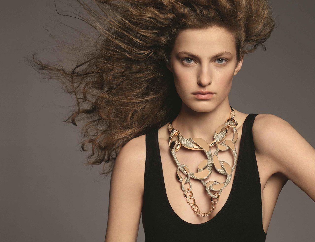 「流光鏈影」系列珠寶是愛馬仕高級珠寶的第五系列作品,以品牌經典的鏈飾為主角。圖/...