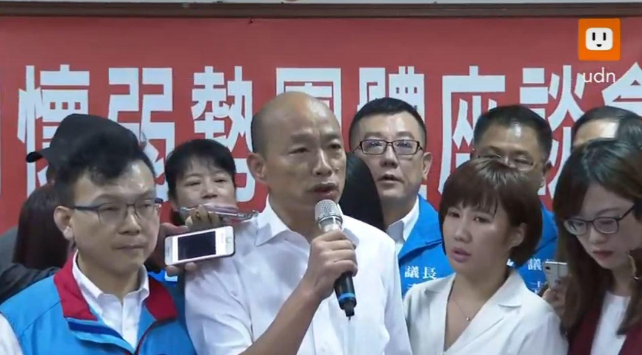 韓國瑜在新竹市回應購屋事件,表示這是他在北農任職前一年買的,但後來因財務壓力,最...