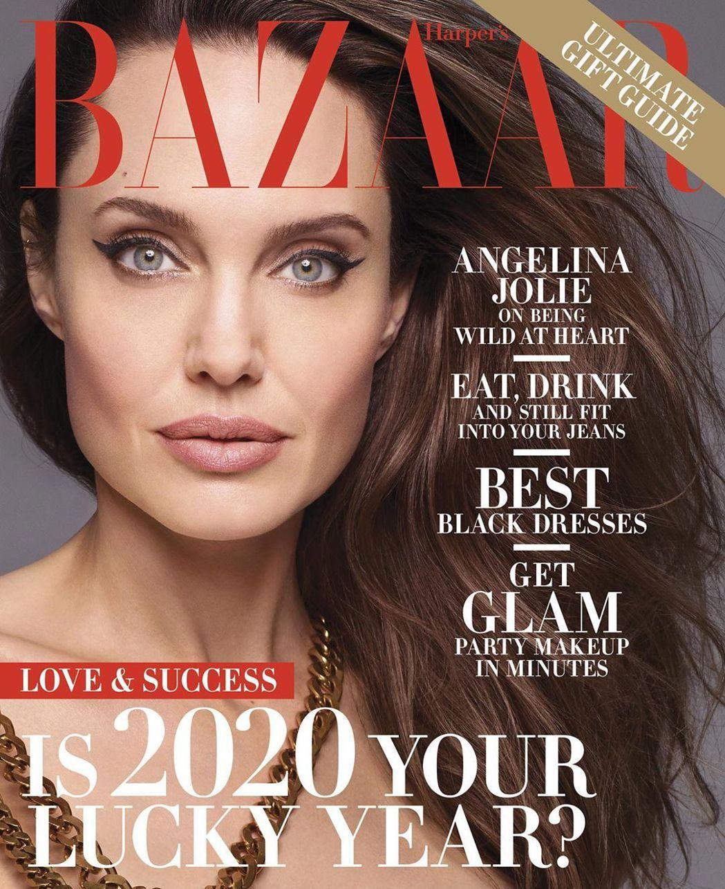 安琪莉娜裘莉在「Harpers BAZAAR」雜誌訪談中又暗批前夫。圖/摘自In...