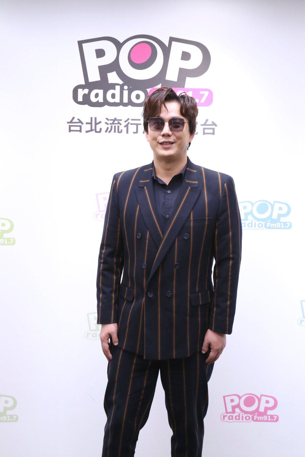 蕭煌奇到電台宣傳新專輯兼找媳婦。圖/POP Radio提供