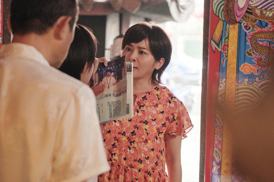 王彩樺在「通靈少女2」戲中因心疼女兒和師父起爭執。圖/HBO Asia提供