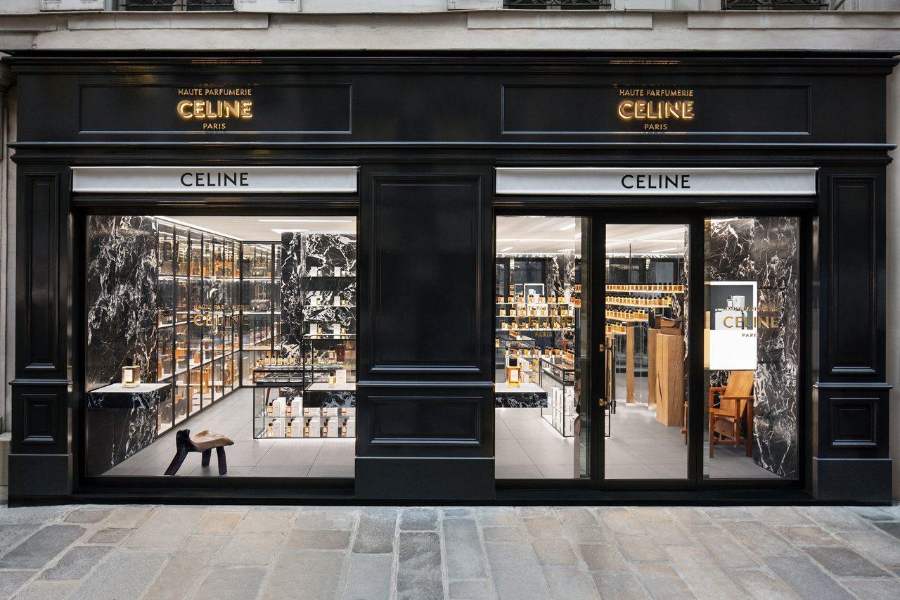 首間「CELINE高級香水專賣店」在巴黎聖奧諾雷路開幕。圖/CELINE BY ...