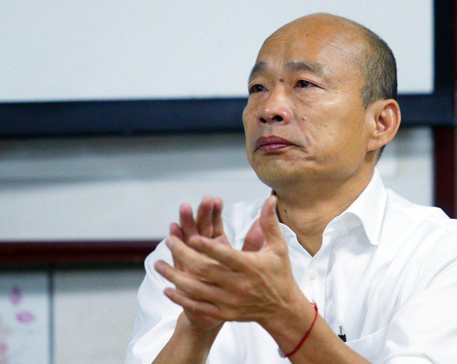 國民黨總統參選人韓國瑜上午參訪新竹縣世光教養院,對購買南港豪宅案沒有回應。記者陳正興/攝影