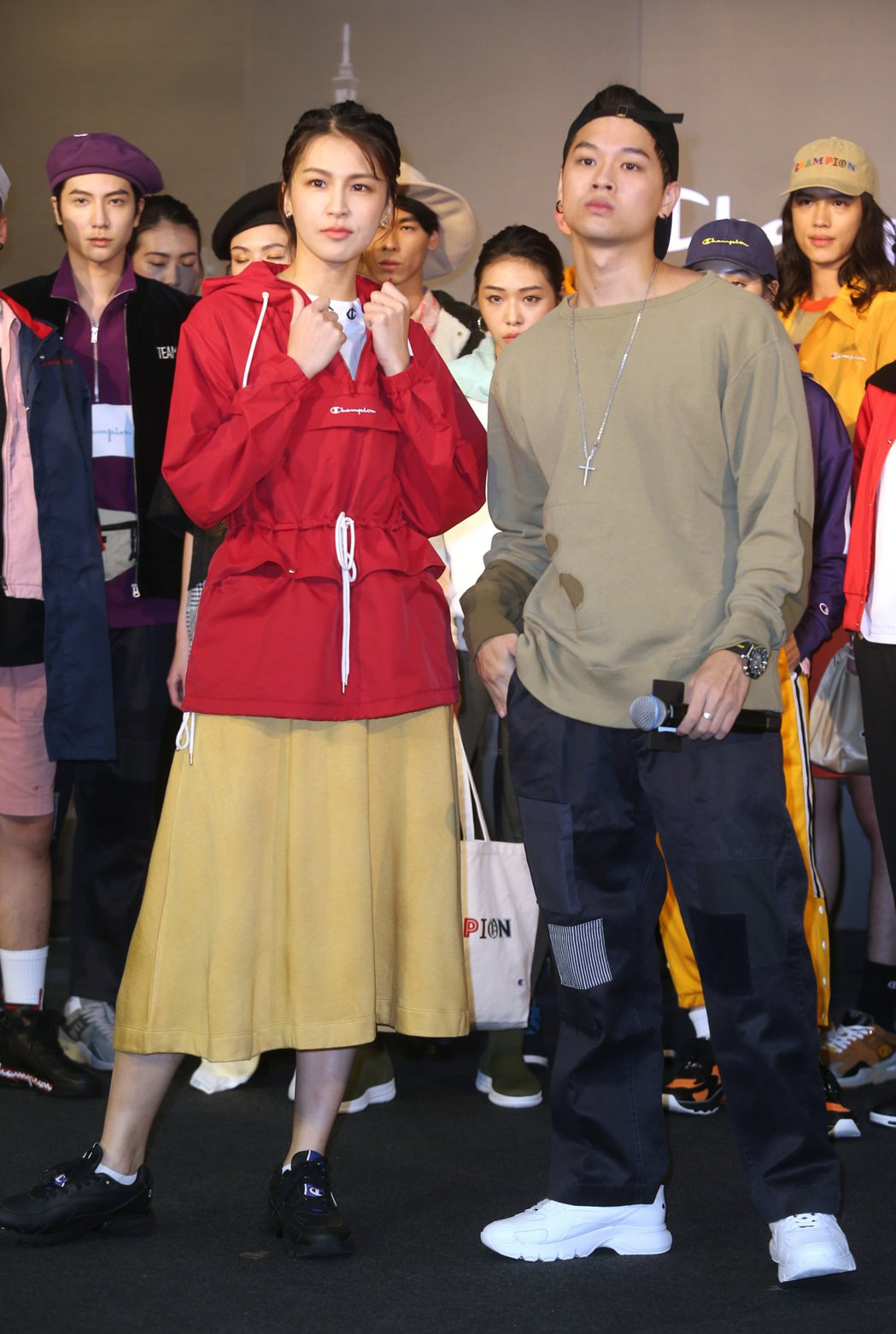 曾沛慈、高爾宣出席Champion進駐台北時尚重鎮101全台第一間品牌形象概念店...