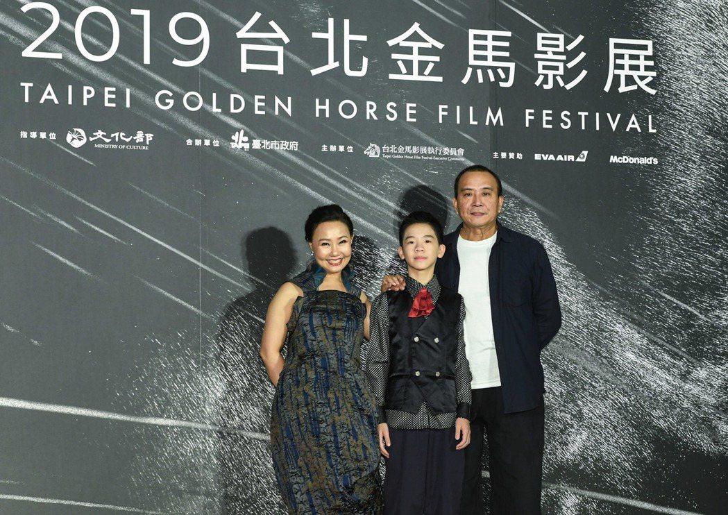 呂雪鳳(左起)、李英銓、張作驥分別入圍本屆金馬獎最佳女主角、男配角和導演大獎。圖...