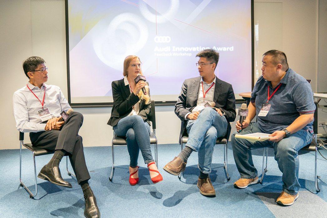 由左至右分別為大中華區執行長林志垚、台灣奧迪數位事業經理Angela Leibi...