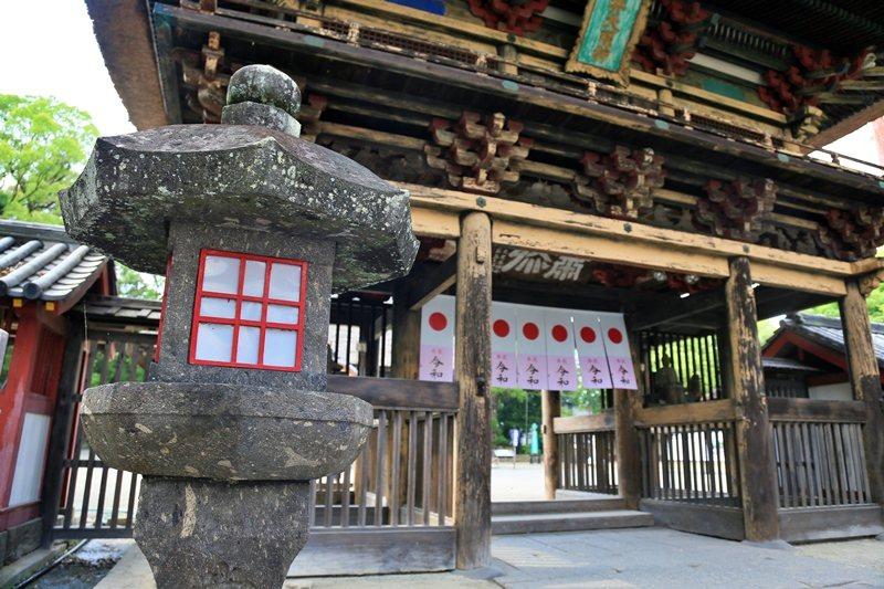 青井阿蘇神社已有400年歷史。 圖/魏妤庭攝影