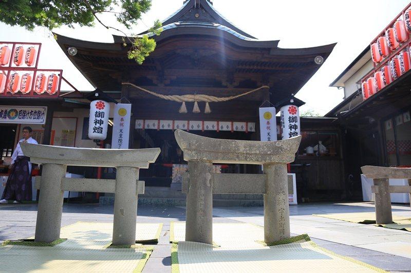 栗嶋神社的最小鳥僅寬高30公分左右。 圖/魏妤庭攝影