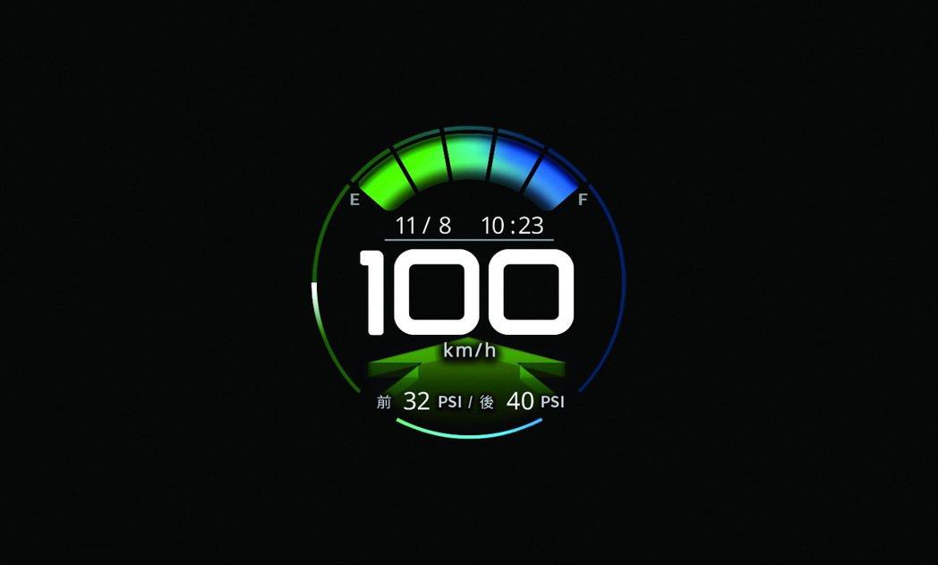 TFT數位儀錶板含胎壓偵測器。 圖/中華汽車提供