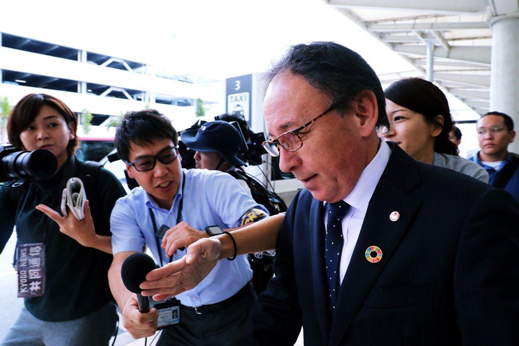 「沖繩縣傾注全心全力,一定要讓首里城復原。」沖繩縣知事玉城Denny表示。 圖/...