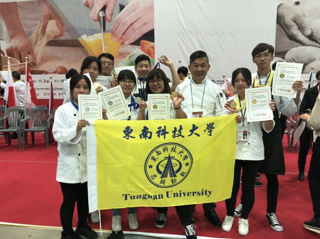 東南科技大學餐旅管理系餐加2019AF韓國國際技能人大賽,榮獲4金4銀佳績。...