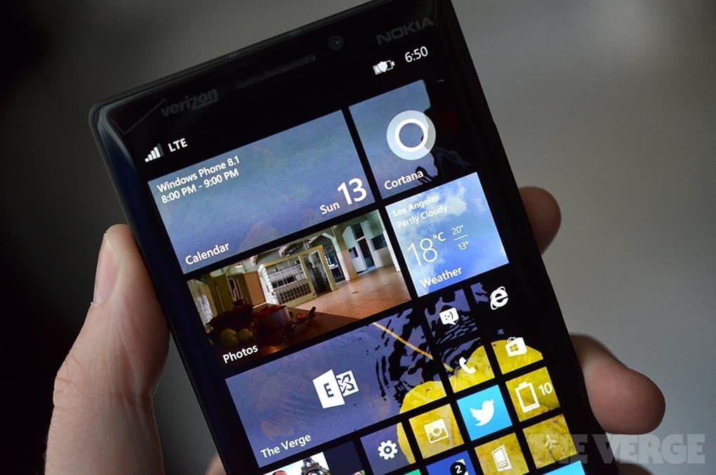 Windows手機系統。 圖擷自theverge