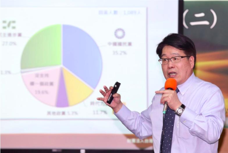 台灣民意基金會董事長游盈隆。記者林伯東/攝影