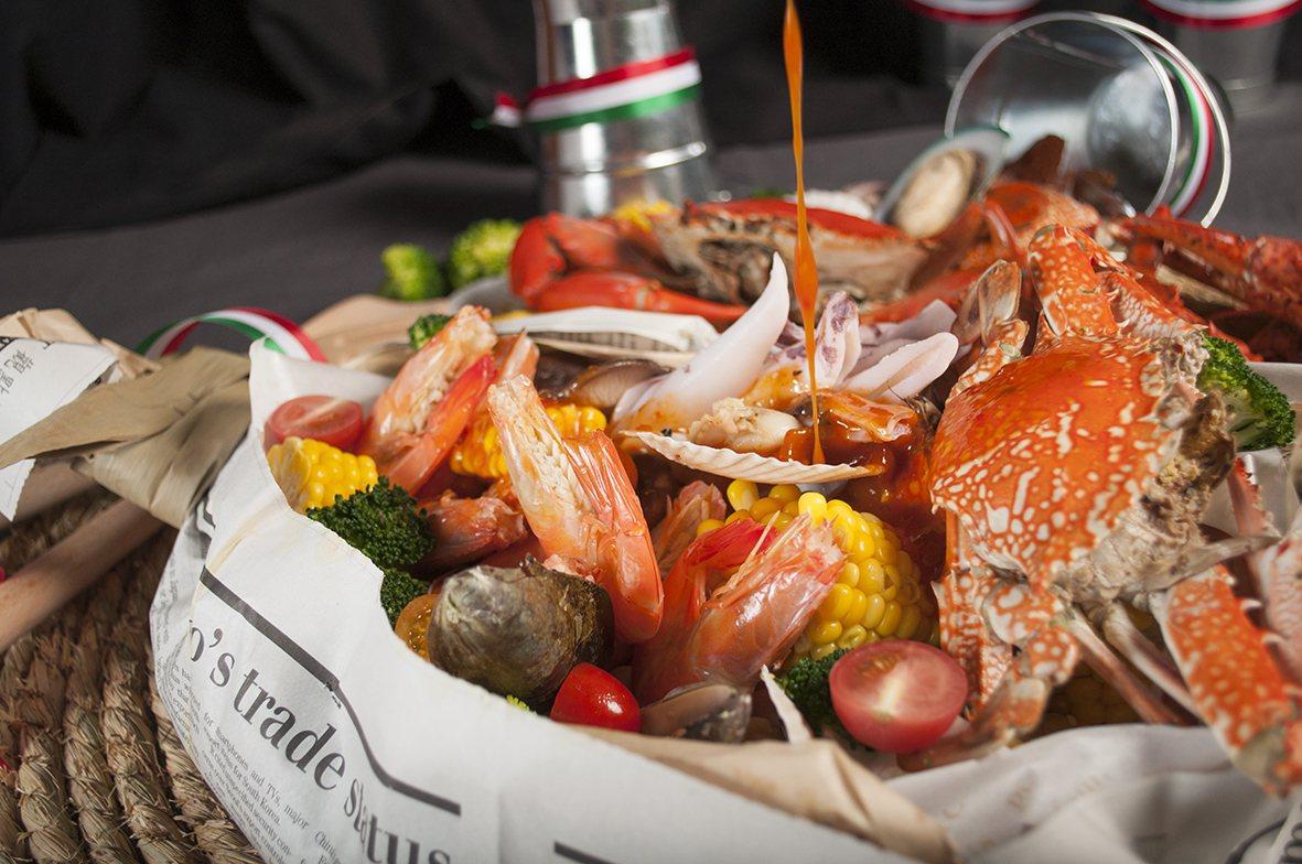 美麗信花園酒店雨林餐廳11月全月推出「光棍美食月海鮮吃到飽」。圖/美麗信花園酒店...
