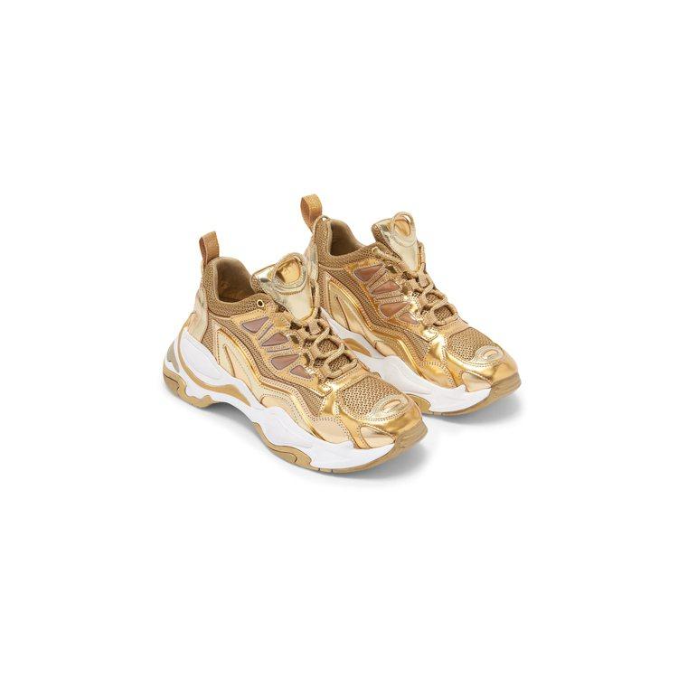 sandro Astro金色運動鞋,售價13,680元。圖/sandro提供