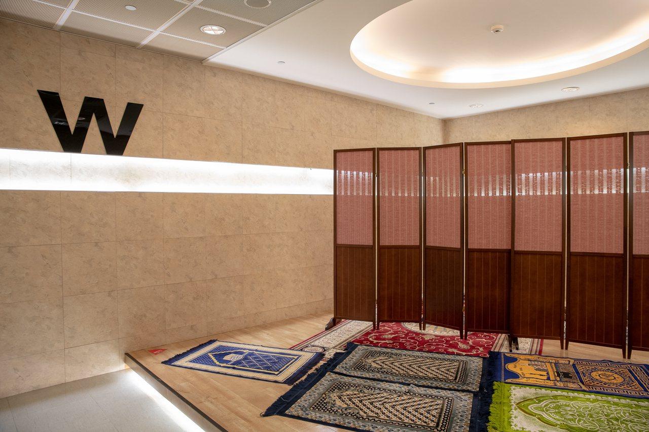 桃園國際機場共計四處設有祈禱室。圖/桃園國際機場提供