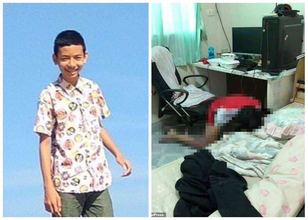 泰國17歲少年皮亞瓦(左)學校期中放假返家後,整天窩在房內徹夜玩電腦遊戲,4日卻...