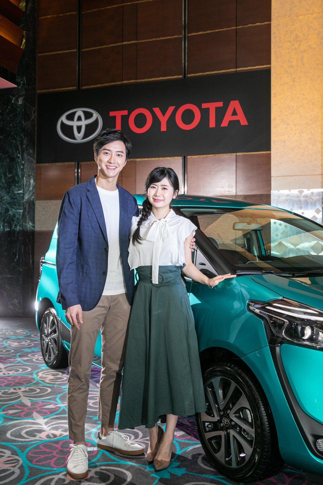 江宏傑與老婆福原愛今天以百萬價碼為日系汽車品牌代言。圖/和泰汽車提供