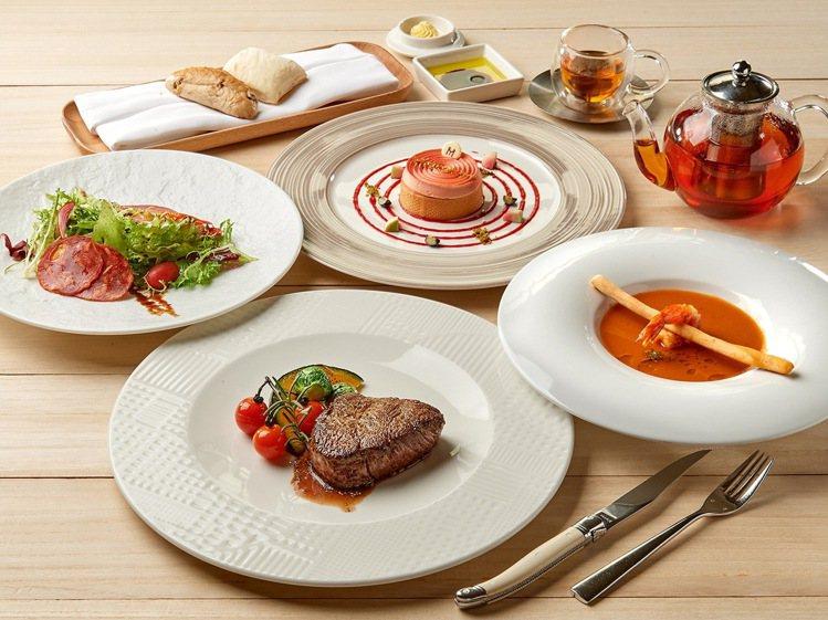 台北美福大飯店推出GMT義大利餐廳平假日雙人肋眼套餐餐券,每張2,200元起。圖...