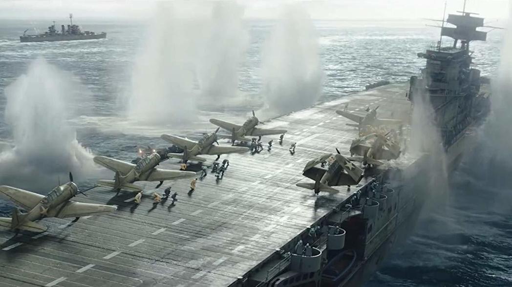 「決戰中途島」空戰場面比舊片更壯觀。圖/摘自imdb
