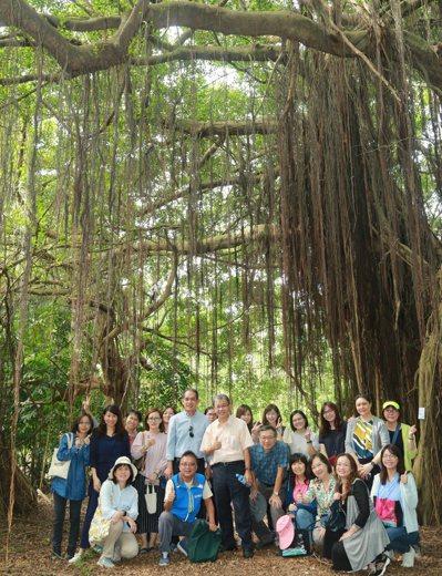中山大學仁武校區裡有漂亮的綠色隧道,歡迎民眾來休憩運動。 記者徐如宜/攝影