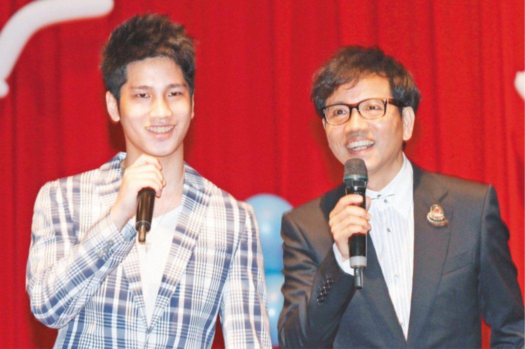 陳凱倫(右)的兒子陳銳曾因搶奪賭金被判刑入獄。 圖/聯合報系資料照片