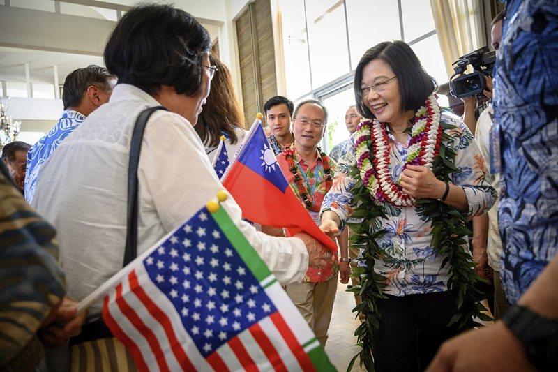 2019年3月,蔡英文參訪夏威夷。 圖/美聯社