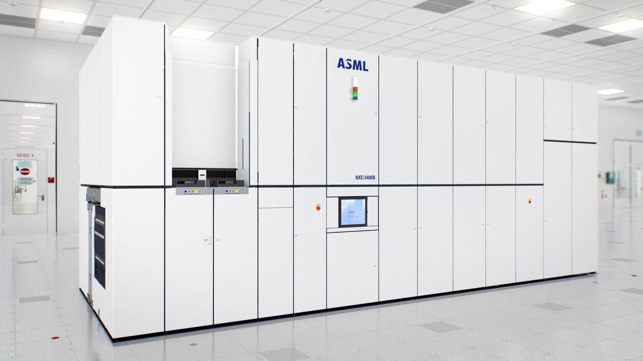 ▲荷蘭半導體設備大廠ASML的EUV光刻機NXE 3400系列,每台造價超過30...