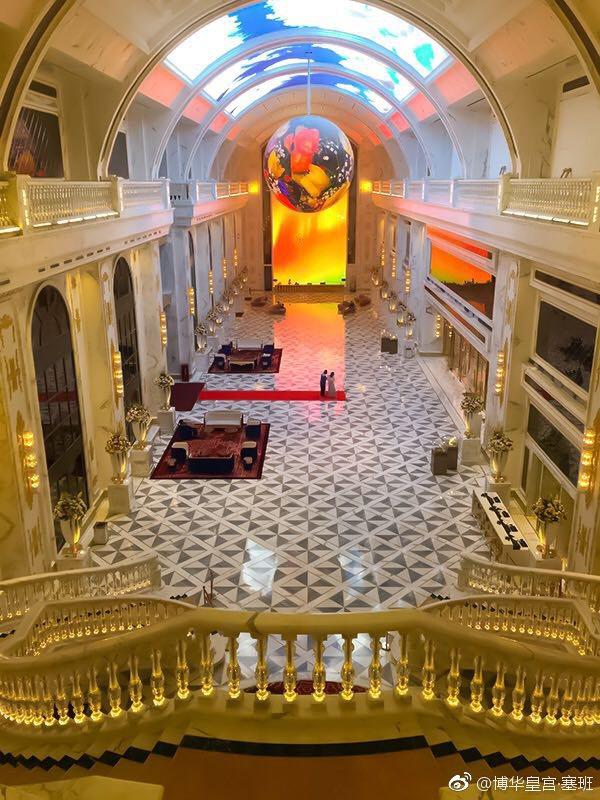 「博華皇宮」為七星級酒店。圖/擷自微博