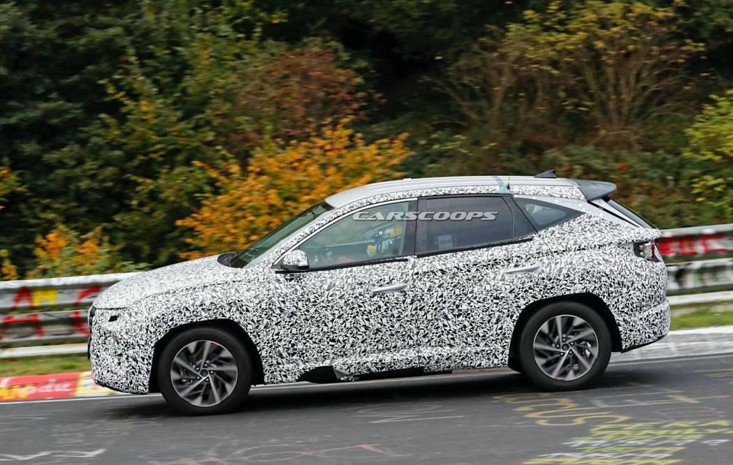 預期第四代Hyundai Tucson會有多種動力選擇。 摘自Carscoops