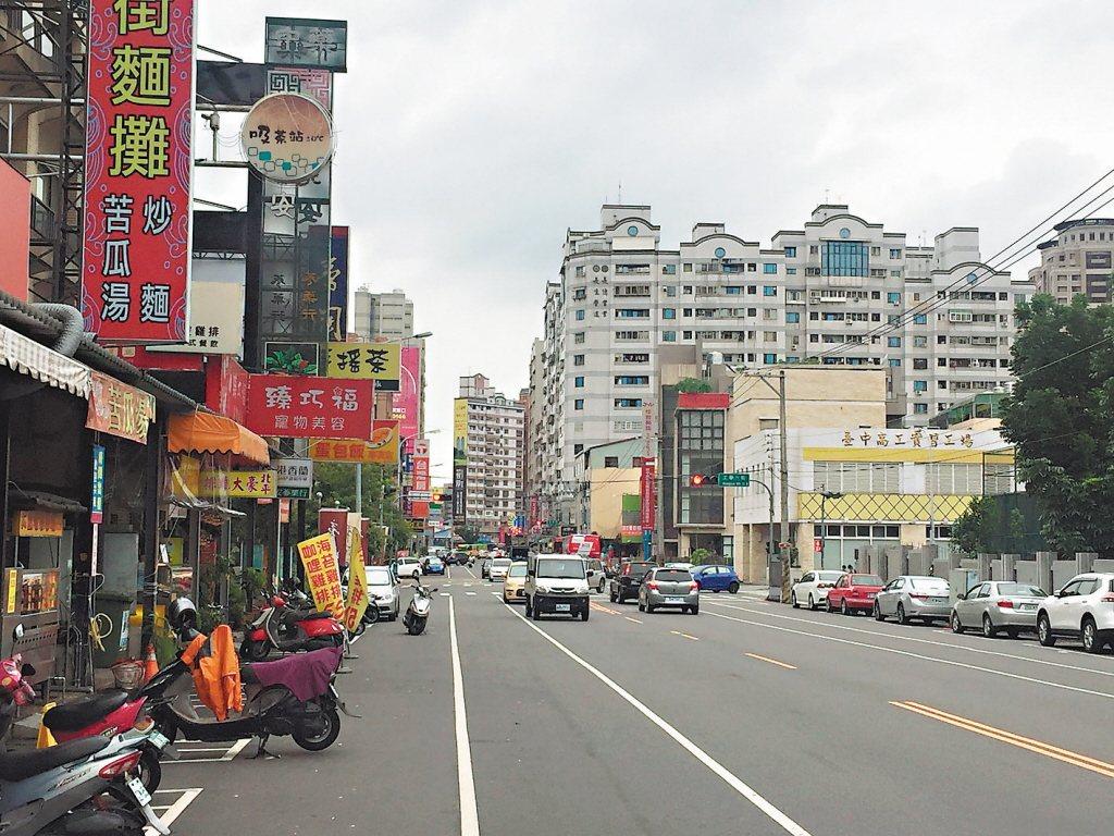 台中市南區工學商圈。 圖片來源/聯合報系資料照
