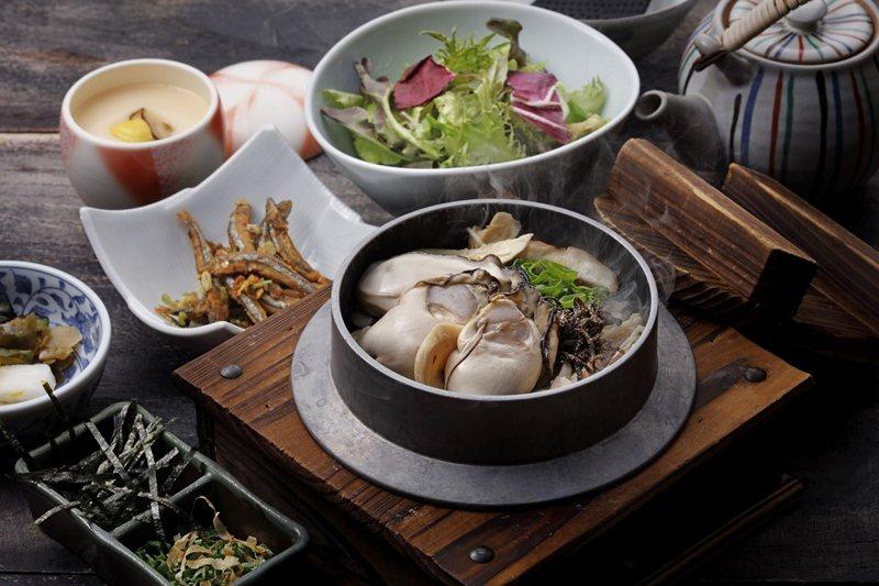 使用多種野菇與牡蠣共同烹煮的野菇牡蠣釜飯,每份420元。 圖/鳥丈提供