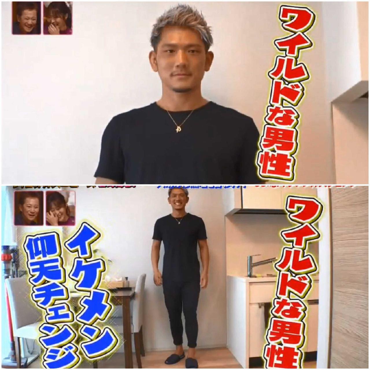 小西拓槙變成壯碩的狂野系型男!圖翻攝自日本綜藝節目「ザ!世界仰天ニュース 」
