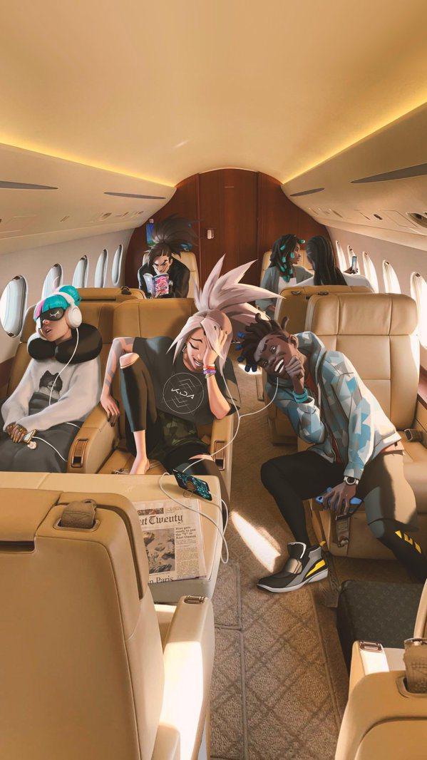 真傷樂團的成員們也在前往巴黎總決賽的路上。