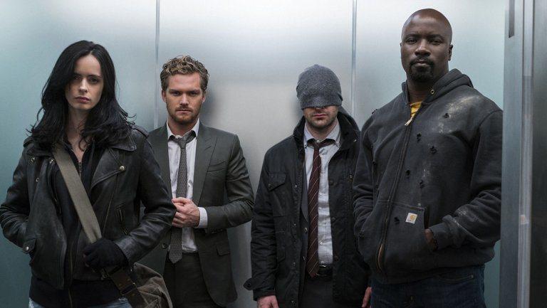 「捍衛者聯盟」幾位英雄主角,據傳有機會在漫威電影登場,但演員會換新。圖/摘自im...