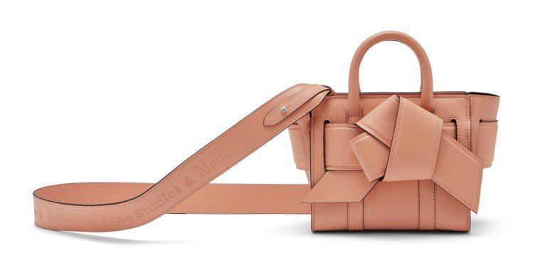 Acne Micro Musubi Bayswater粉色手袋,售價33,300...