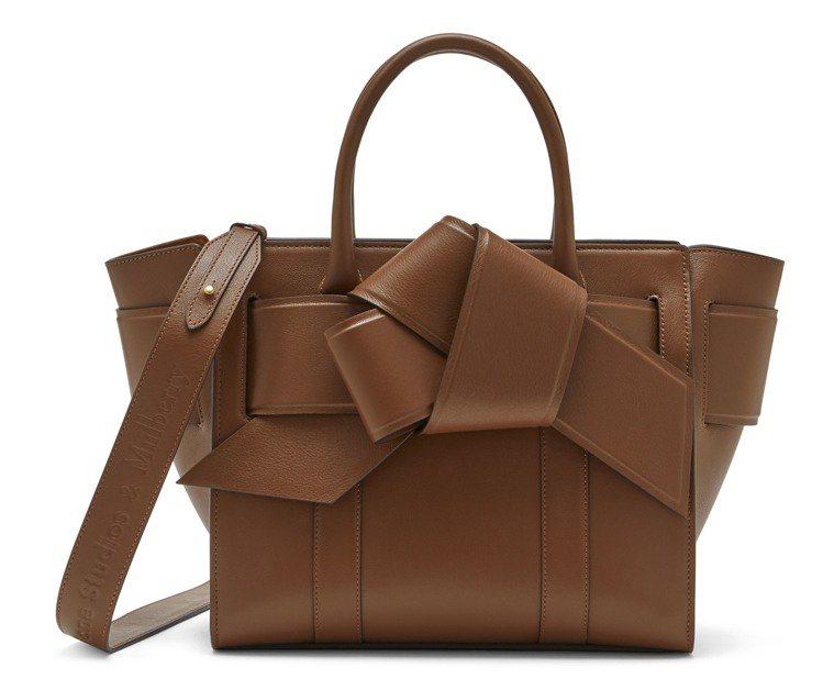 Acne Musubi Bayswater橡木色手袋,售價52,300元。圖/M...
