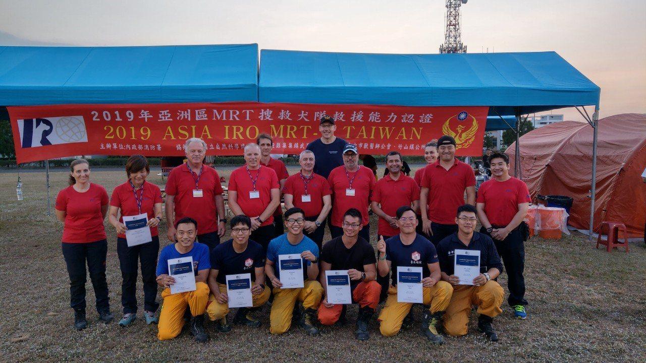 今年亞洲區MRT搜救犬救援能力認證,在南投竹山消防訓練中心舉辦,共計18支國內外...