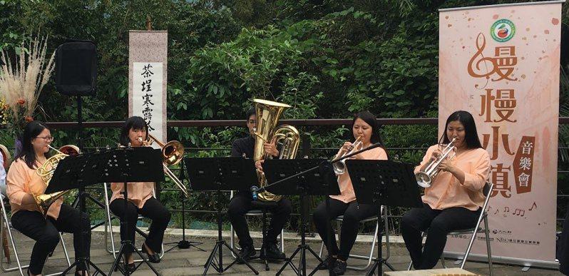 「2019草嶺古道芒花季」明天開幕,東北角風景區管理處將安排銅管五重奏演出拉開序幕。圖/東北角風管處提供