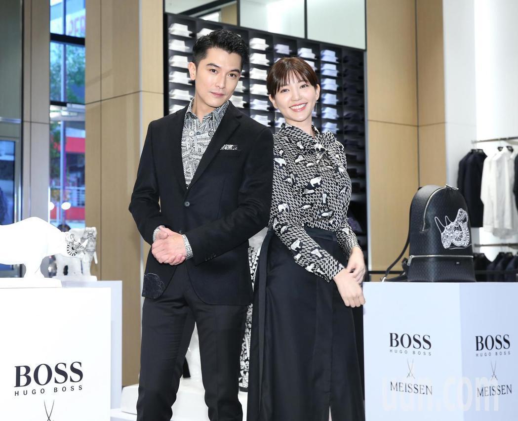 邱澤、郭雪芙下午出席BOSS微風南山專門店開幕活動。記者林澔一/攝影