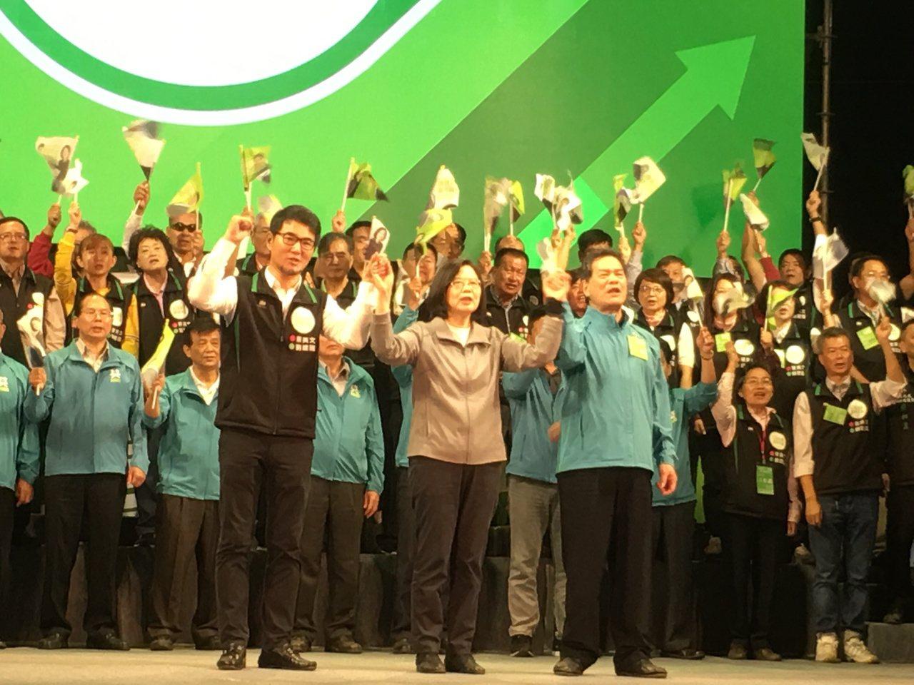 蔡英文總統連續兩天在雲林現身,她說雲林是關鍵選區。記者陳雅玲/攝影