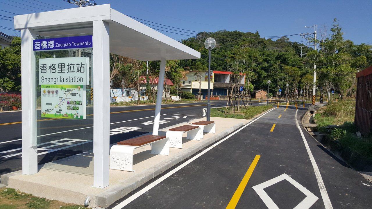 台13甲線在造橋鄉的舊路段,鄉公所爭取開闢成綠色生態景觀廊道,即將完工啟用,新建...